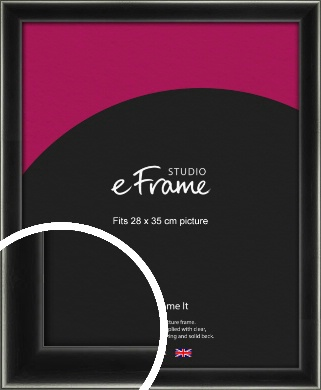 Contemporary Smooth Black Picture Frame, 28x35cm (VRMP-195-28x35cm)