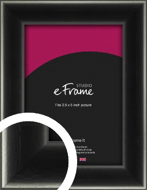 Contemporary Smooth Black Picture Frame, 3.5x5