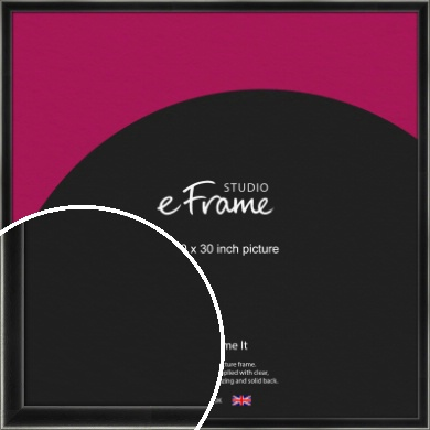 Contemporary Smooth Black Picture Frame, 30x30
