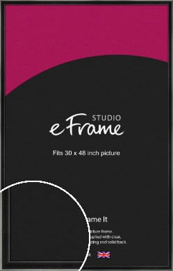 Contemporary Smooth Black Picture Frame, 30x48