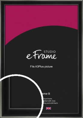 Contemporary Smooth Black Picture Frame, A3Plus (VRMP-195-329x483mm)