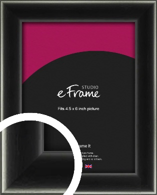 Contemporary Smooth Black Picture Frame, 4.5x6