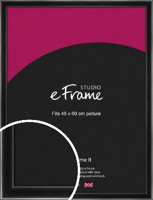 Contemporary Smooth Black Picture Frame, 45x60cm (VRMP-195-45x60cm)