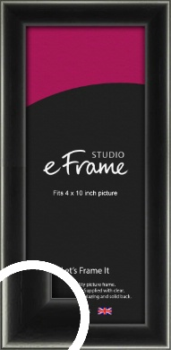Contemporary Smooth Black Picture Frame, 4x10