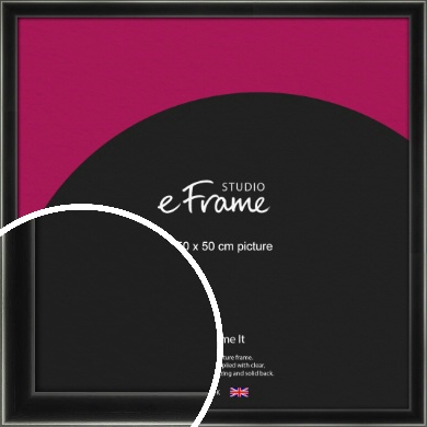 Contemporary Smooth Black Picture Frame, 50x50cm (VRMP-195-50x50cm)