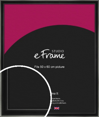 Contemporary Smooth Black Picture Frame, 50x60cm (VRMP-195-50x60cm)