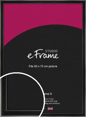 Contemporary Smooth Black Picture Frame, 50x70cm (VRMP-195-50x70cm)