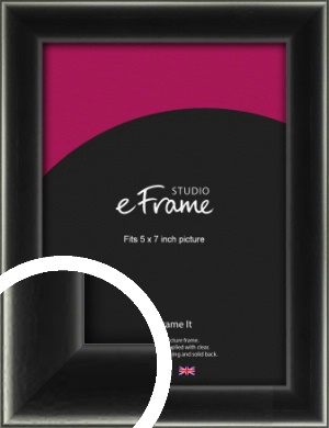Contemporary Smooth Black Picture Frame, 5x7