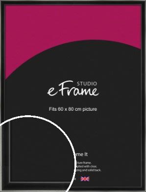 Contemporary Smooth Black Picture Frame, 60x80cm (VRMP-195-60x80cm)