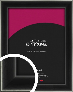 Contemporary Smooth Black Picture Frame, 6x8