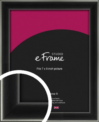 Contemporary Smooth Black Picture Frame, 7x9