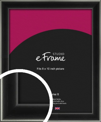 Contemporary Smooth Black Picture Frame, 8x10
