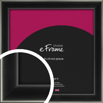 Contemporary Smooth Black Picture Frame, 8x8