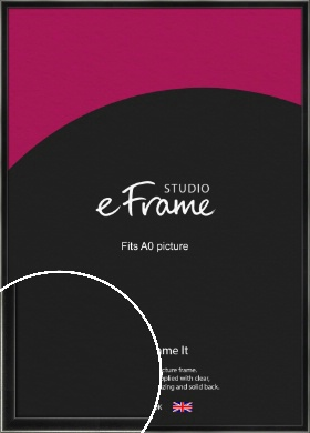 Contemporary Smooth Black Picture Frame, A0 (841x1189mm) (VRMP-195-A0)