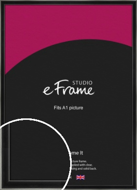 Contemporary Smooth Black Picture Frame, A1 (594x841mm) (VRMP-195-A1)