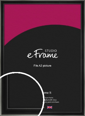 Contemporary Smooth Black Picture Frame, A2 (420x594mm) (VRMP-195-A2)