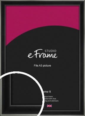 Contemporary Smooth Black Picture Frame, A3 (297x420mm) (VRMP-195-A3)