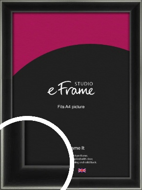 Contemporary Smooth Black Picture Frame, A4 (210x297mm) (VRMP-195-A4)