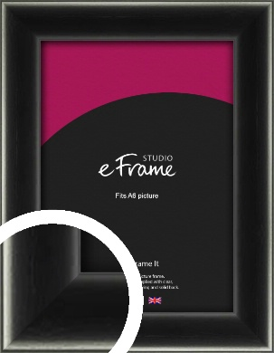 Contemporary Smooth Black Picture Frame, A6 (105x148mm) (VRMP-195-A6)