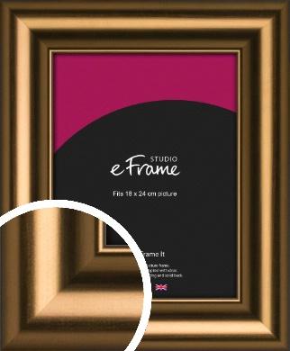 Luxurious Blush Bronze / Copper Picture Frame, 18x24cm (VRMP-1176-18x24cm)
