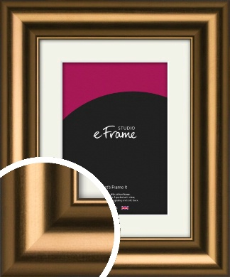 Luxurious Blush Bronze / Copper Picture Frame & Mount (VRMP-1176-M)