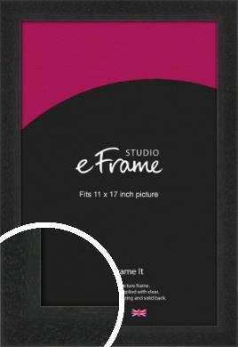 Deep Box Black Picture Frame, 11x17