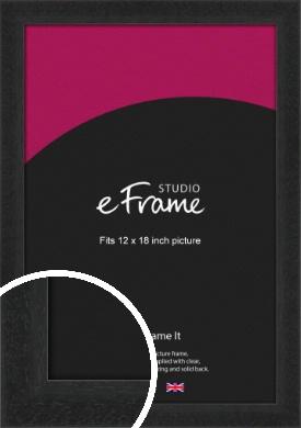 Deep Box Black Picture Frame, 12x18