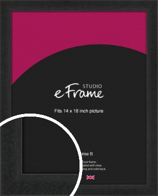 Deep Box Black Picture Frame, 14x18