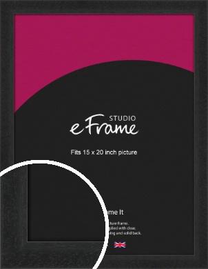 Deep Box Black Picture Frame, 15x20