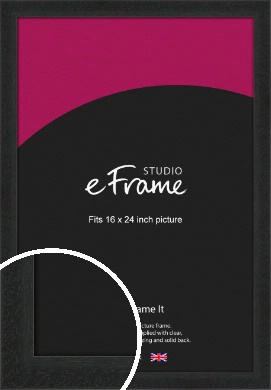 Deep Box Black Picture Frame, 16x24