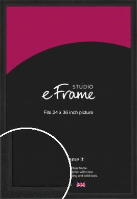 Deep Box Black Picture Frame, 24x36