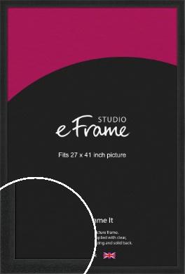 Deep Box Black Picture Frame, 27x41