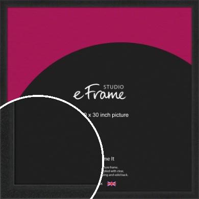 Deep Box Black Picture Frame, 30x30