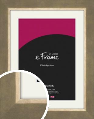 Minimal Brown Picture Frame & Mount, A4 (210x297mm) (VRMP-1184-M-A4)