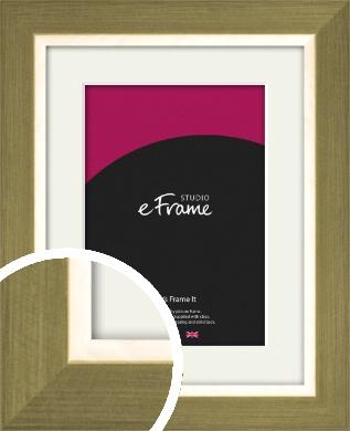 Brushed & Elegant Gold Picture Frame & Mount (VRMP-1187-M)