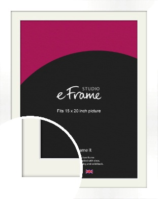 Flat Stark White Picture Frame & Mount, 15x20