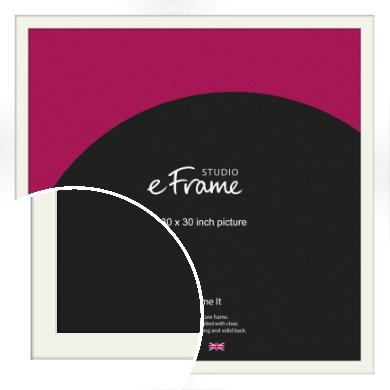 Flat Stark White Picture Frame & Mount, 30x30