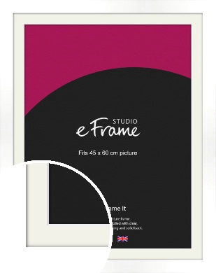 Flat Stark White Picture Frame & Mount, 45x60cm (VRMP-512-M-45x60cm)