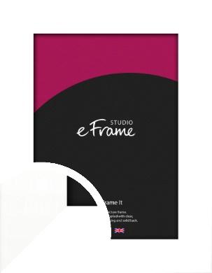 Flat Stark White Picture Frame (VRMP-512)