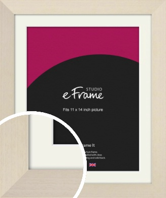 Off White Scandi Style Cream Picture Frame & Mount, 11x14