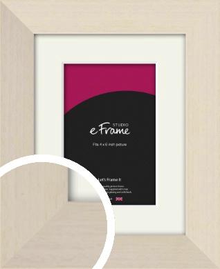 Off White Scandi Style Cream Picture Frame & Mount, 4x6