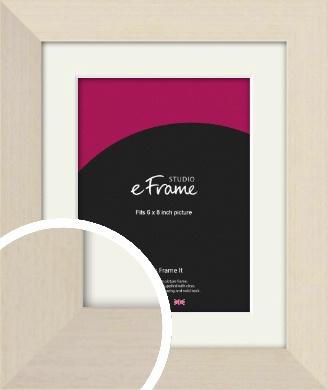 Off White Scandi Style Cream Picture Frame & Mount, 6x8