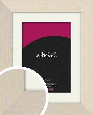 Off White Scandi Style Cream Picture Frame & Mount (VRMP-223-M)