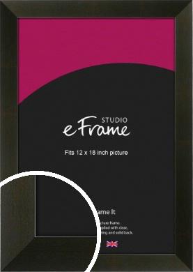 Flat Jet Black Picture Frame, 12x18