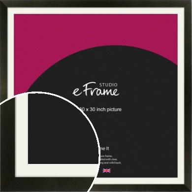 Flat Jet Black Picture Frame & Mount, 30x30