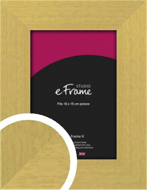 Smooth Stained Natural Wood Picture Frame, 10x15cm (4x6