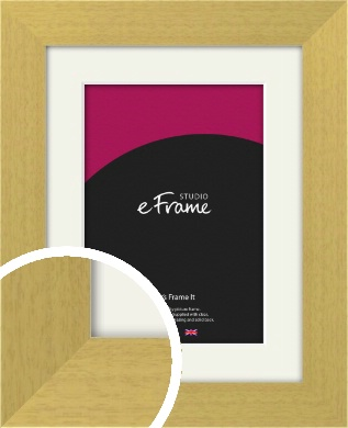 Smooth Stained Natural Wood Picture Frame & Mount (VRMP-149-M)