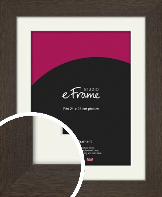 Dark Woodland Grey Picture Frame & Mount, 21x28cm (VRMP-226-M-21x28cm)