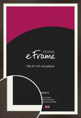 Dark Woodland Grey Picture Frame & Mount, 27x41