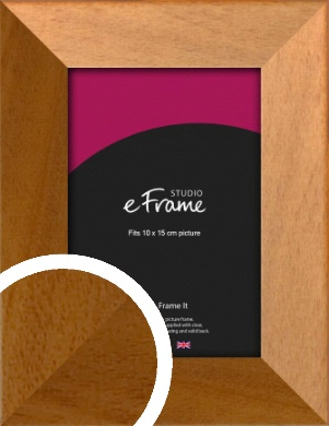 Mid Honey Brown Picture Frame, 10x15cm (4x6